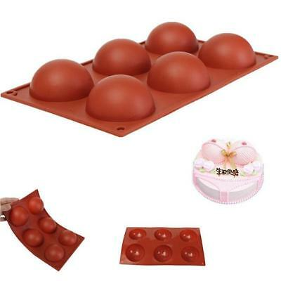 Silicone Half Ball Sphere Chocolate Cake Soap Muffin Pastry JellY Mold Tray - S