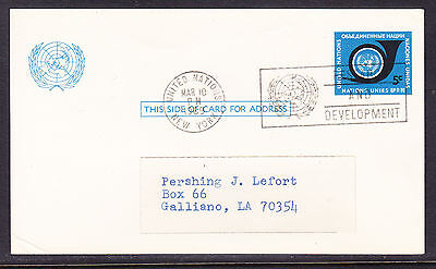 United Nations 1969 Post Card addressed
