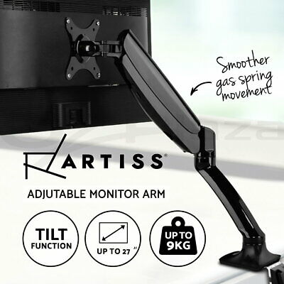 Artiss Single HD LED Monitor Arm Gas Stand Desk Mount 1 Display Screen TV Holder