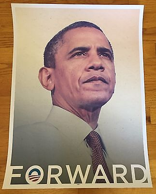 Barack OBAMA FORWARD 18x24 Poster Official 2012 Reelection Campaign Rare
