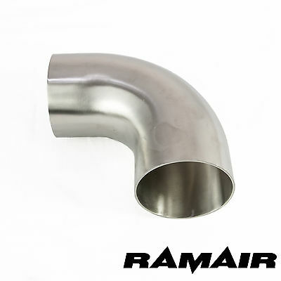 """3"""" Inch 76mm 90 Degree Mandrel Bend 304 Stainless Steel Elbow Exhaust Manifold"""