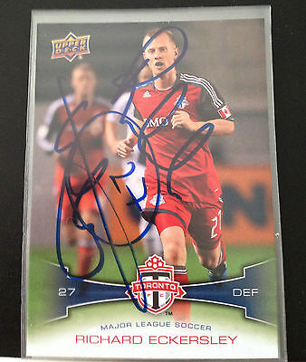 Toronto FC Richard Eckersley Signed Autographed 2012 UD Upper Deck MLS Card