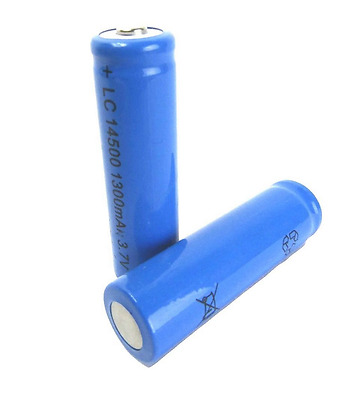 NEW 4 x Rechargeable 1300 mAh Batteries LC 14500 3.7V Powerful Li-Ion Battery