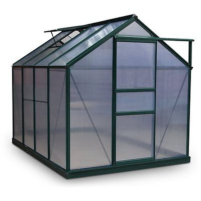 Rosette Twin-Wall Polycarbonate Aluminium Outdoor Greenhouse and Free Foundation