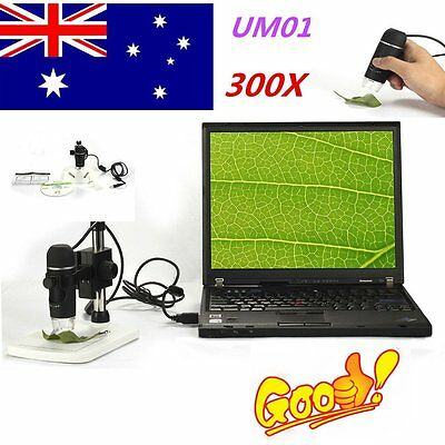 UM012C USB Digital Microscope 5MP Video Microscope 300X Magnifier Camera HA#