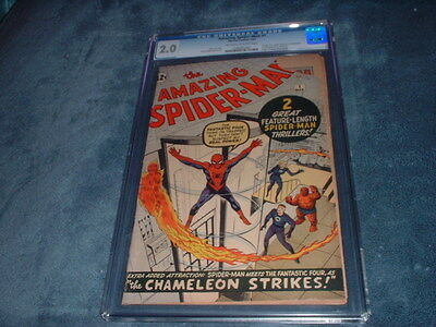 Amazing Spider-Man #1 / March, 1963 / Cgc 2.0 / Movie Coming Soon / Hot Comic !!