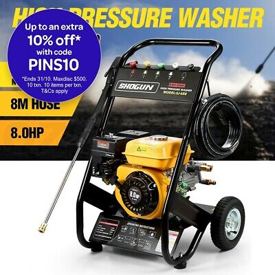 8HP Petrol Pressure Washer High Pressure Cleaner Aluminum Pump with 8M Hose
