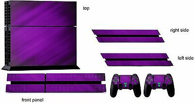 PURPLE CARBON ps4 Skin Decal Stickers Playstation 4 Console & Controller