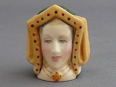Francesca Character Head Thimble - Catherine of Aragon, Tudor Collection