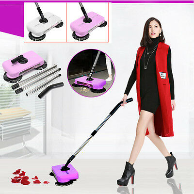 Automatic Swivel Cordless Hand Push Sweeper Dust Carpet Floor Cleaning Sweeping