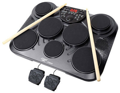 Pyle PTED01 Electronic Table Digital Drum Kit Top w 7 Pad Digital Drum Kit