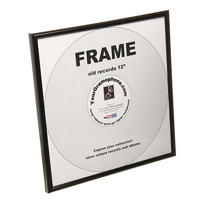 "Your Gramophone - 12"" Record Frame Black"