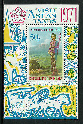 Indonesia 798a Mint Never Hinged S/Sheet - Visit ASEAN Lands