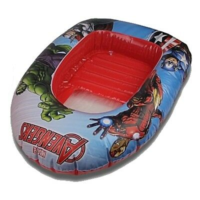 Childrens Inflatable Boat Marvel Avengers Hulk Dinghy Kids Swimming Pool Toy