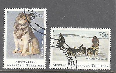 AAT 1994 The Last Huskies pair stamps canceled to order.Dogs