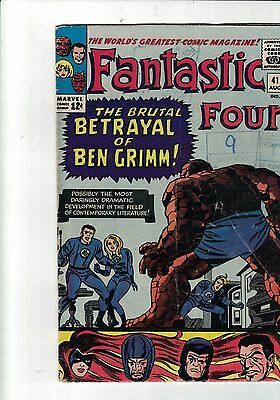 Marvel Comics Fantastic Four No.41 Aug 1965 12 cents issue