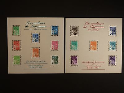 FRANCE - 1997/2001 MARIANNE PAIR OF M/S's MNH. SG.MS3439  (REF.D306)
