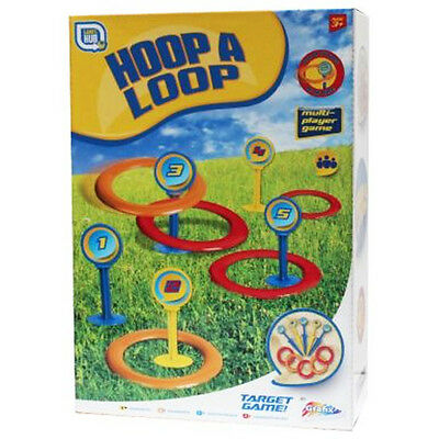 Plastic Hoop Ring Quoits Toss Tossing Game Set Summer Outdoor Fun Family Kids