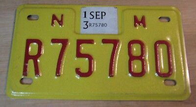 2013 New Mexico Motorcycle License Plate Expired R75 780