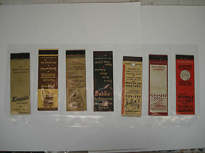 LOT OF 7 DIFFERENT MATCHCOVERS VINTAGE BAR - RESTAURANT etc..