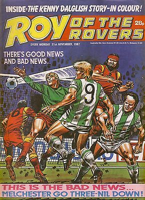 Roy of the Rovers Comic 21st November 1987 ref66