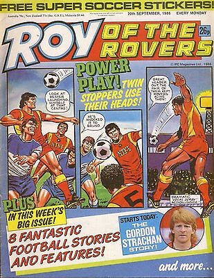 Roy of the Rovers Comic 20th September 1986 ref80