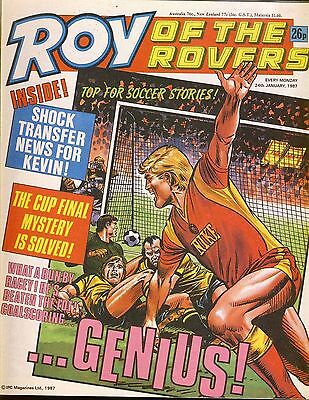 Roy of the Rovers Comic 24th January 1987 ref86