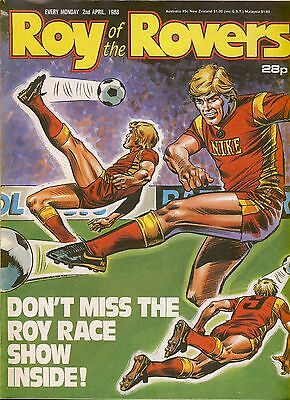 Roy of the Rovers 2nd April 1988 Gary Lineker Striker ref004