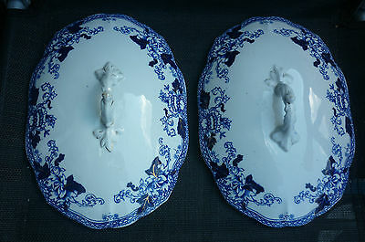 two good vintage condition 10ins John Maddock Roseville Tureen Lids.