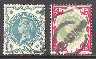 Great Britain #125-126, 1900 Set/2, F-Vf, Used