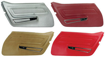 70 - 77 Corvette Standard Door Panels, Pair, NEW, All Factory Colors Available