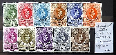 SWAZILAND 1943 G.VI Complete As Described Mounted Mint NB1100