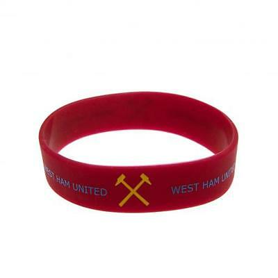 West Ham United Wristband Official Silicone Wrist Band Utd FC Football Club New