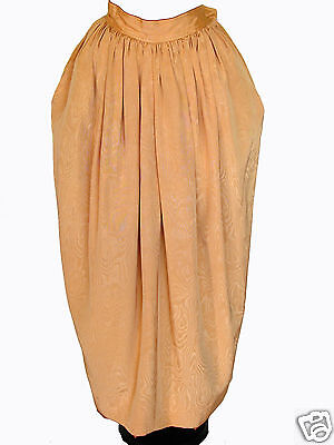 70s YSL Yves Saint Laurent Long Skirt Russian Peasant Gold Silk Size 40