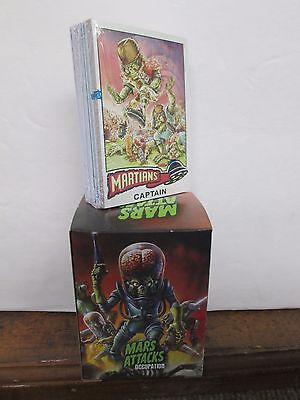 Mars Attacks occupation complete factory box set + complete factory 36 sub set