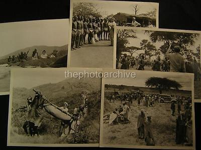 Unidentified Africa Documentary VINTAGE 9 PHOTO LOT 462D