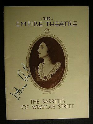 1931 Katharine Cornell Barretts Of Wimpole Street Signed Theater Playbill 801S