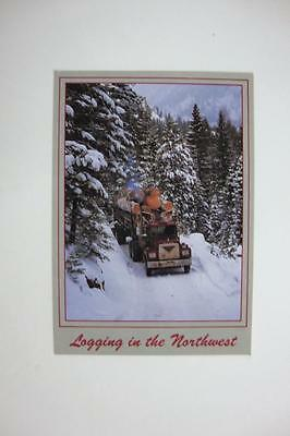 223) Logging In The Northwest Loaded Mack Logging Truck In The Winter Mountains