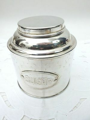 elegante Silberdose Zuckerdose englische sugar box plated english