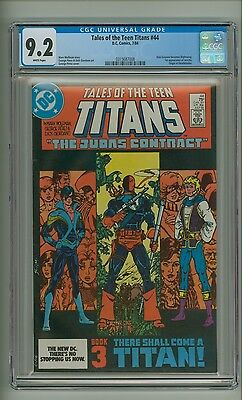 Tales of the Teen Titans 44 (CGC 9.2) White p; Dick Grayson Nightwing (c#14161)