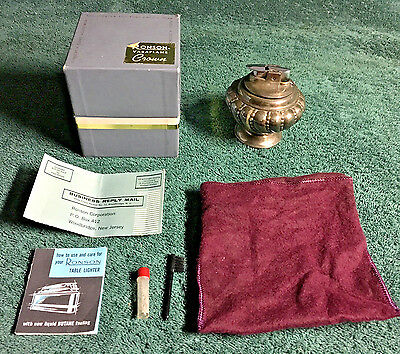 RONSON~Vintage ~Varaflame Crown Table Lighter with oriiginal box & inserts