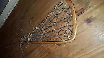 Vintage - retro Lacrosse stick by Hattersley's? hickory and leather