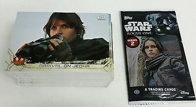 2017 Topps Star Wars Rogue One Series 2 .. Complete 100 Card Set + Wrapper