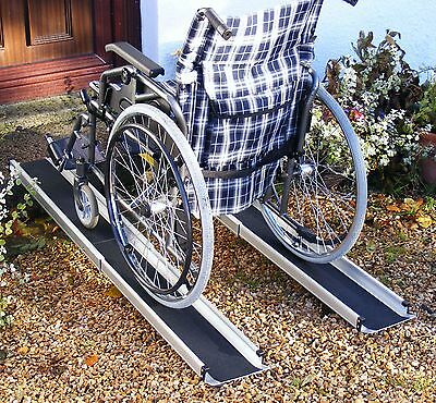 5ft Folding Telescopic Wheelchair Scooter Channel Ramps, Light, Portable, Strong