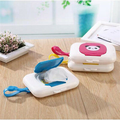 Portable Outdoor Stroller Kids Baby Wipe Case Box Wet Wipes Dispenser Tissue Box