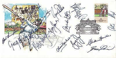 Cricket Australia Adelaide Oval Centenary Test Signed Rare First Day Cover Coa
