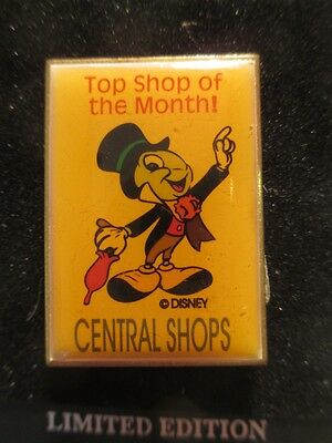 """Disney JIMINY CRICKET """"Top Shop Of The Month"""" PIN"""