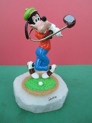 Disney GOOFY PLAYING GOLF STATUE Ron Lee Signed LE ***LOW #4/950 #MM1230