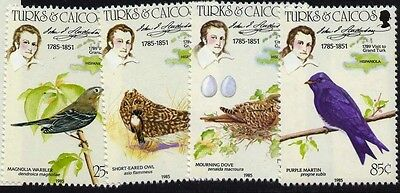 Turks & Caicos 651-4 MNH Birds, Insect, Map