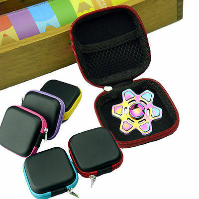 1x For Fidget Hand Spinner Triangle Finger Toy Focus ADHD Autism Bag Box Case